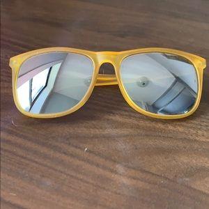 Polaroid Yellow Matte Sunglasses with Mirror Lens